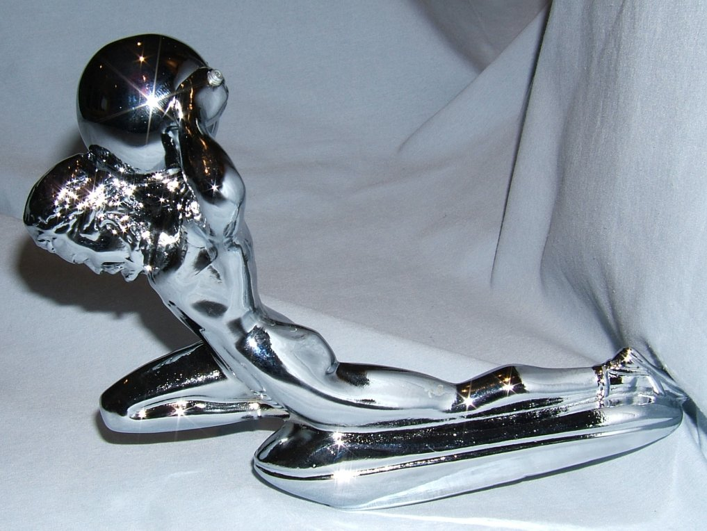 Mighty Atlas Bonnet Mascot-Chrome Plated