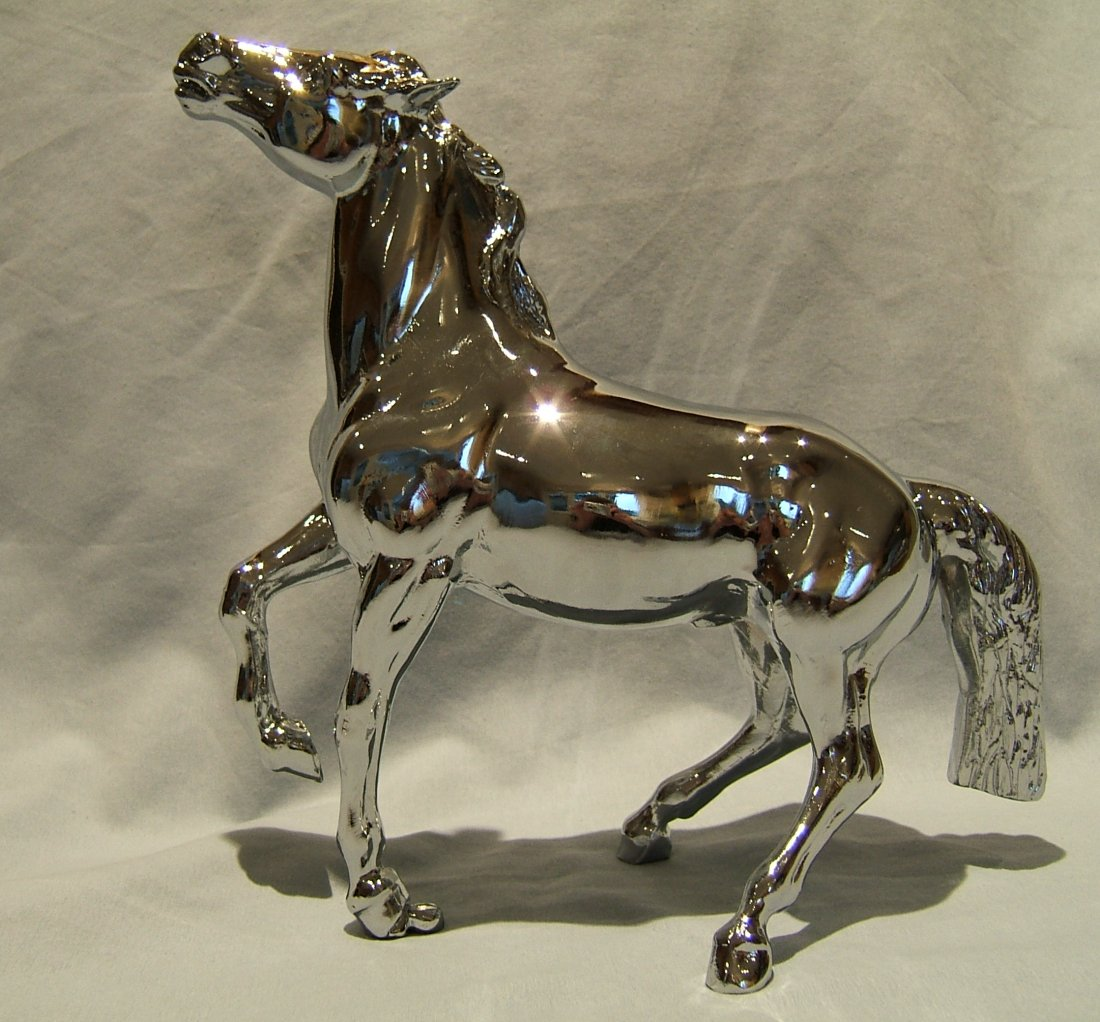 Large Mustang Lorry Mascot -Chrome Plated
