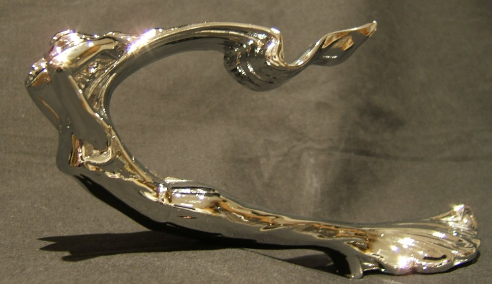 1930's Cadillac Style Goddess Bonnet Mascot -Chrome Plated