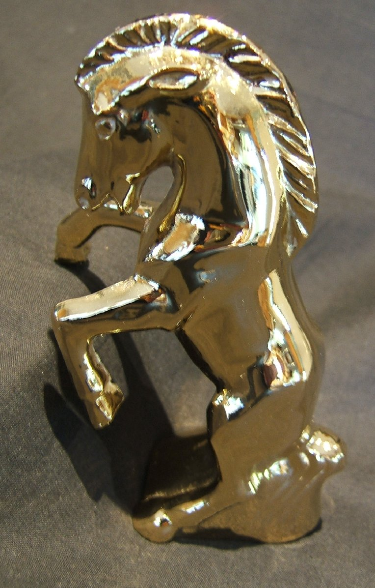 Fighting Colt Bonnet Mascot -Gold Plated