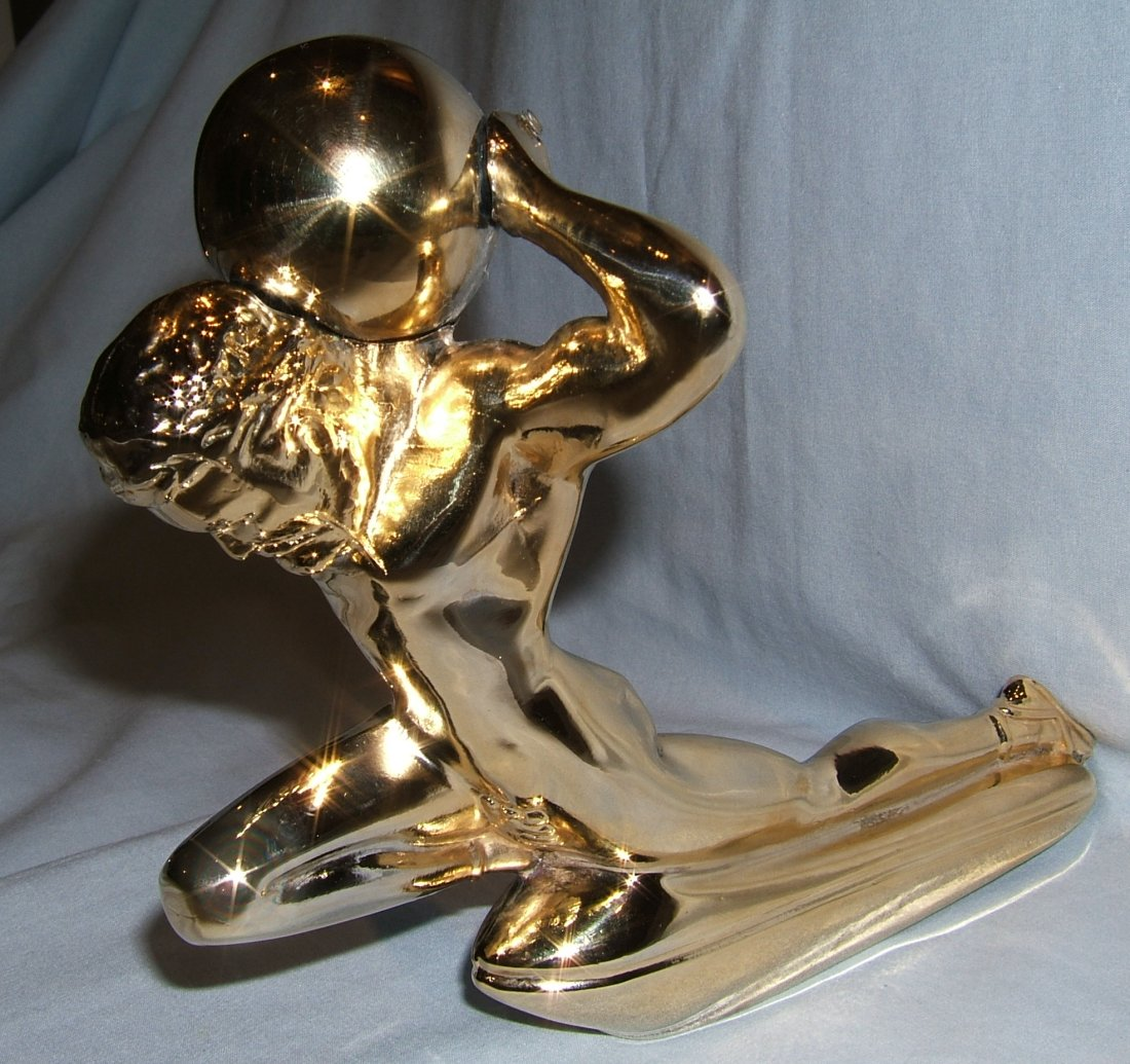 Mighty Atlas Bonnet Mascot-Gold Plated