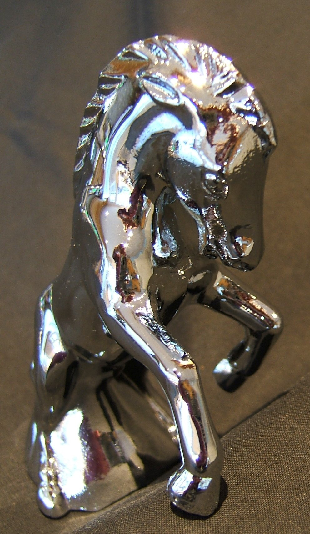 Fighting Colt Bonnet Mascot -Chrome Plated