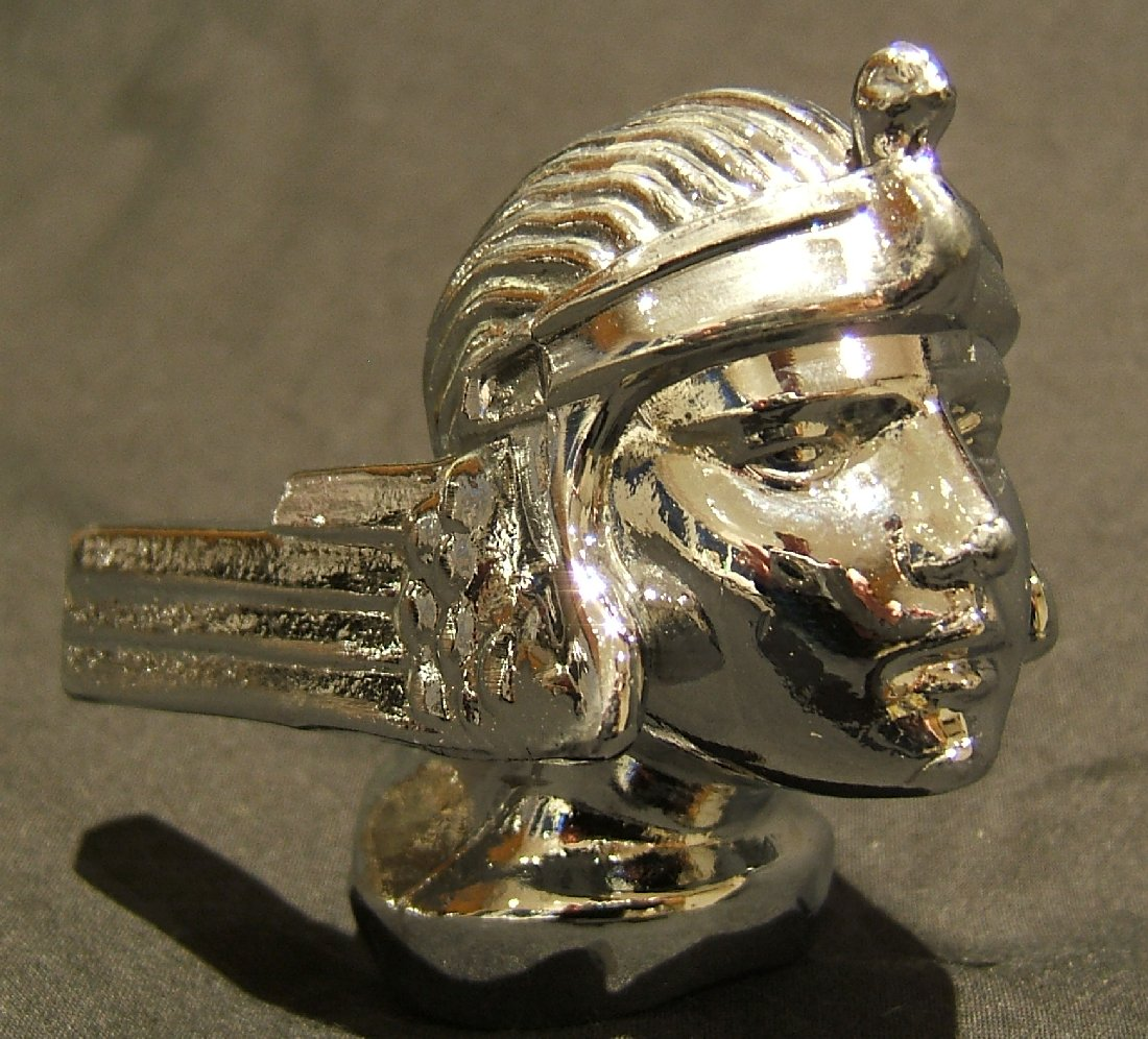 Stutz Bearcat Bonnet Mascot-Chrome Plated