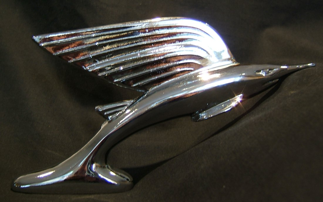 Sword Fish Car Bonnet Mascot-Chrome Plated